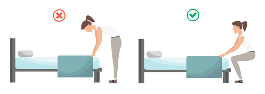 higiene postural hacer la cama 3bs 1