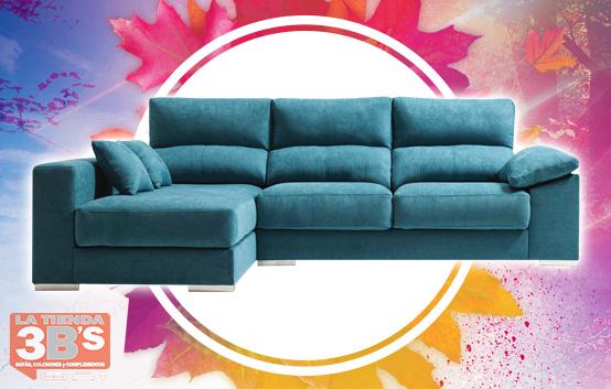 ofertas vuelta a la rutina, sofa chaiselongue amber, La Tienda 3Bs, Mallorca
