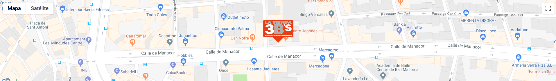 Mapa localización latienda3bs