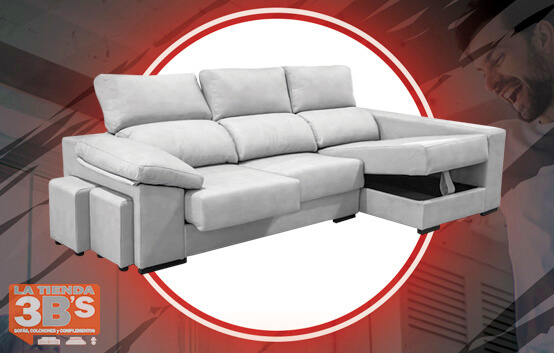 sofa chaiselongue lessen ,ofertas black friday, La Tienda 3Bs, Mallorca
