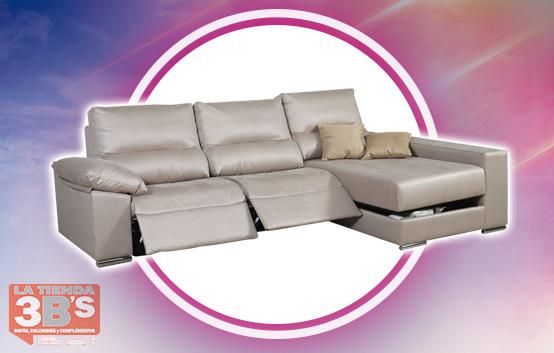 grandes rebajas, sofa con chaiselongue repose, La Tienda 3Bs, Mallorca