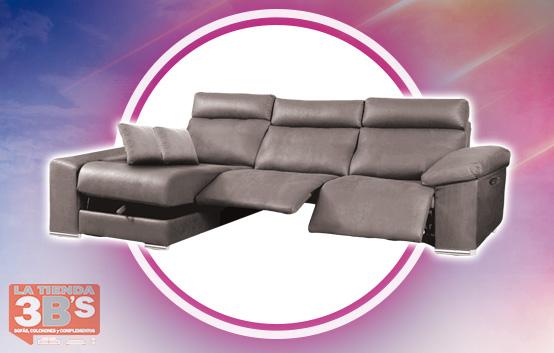 grandes rebajas, sofa con chaiselongue subax, La Tienda 3Bs, Mallorca