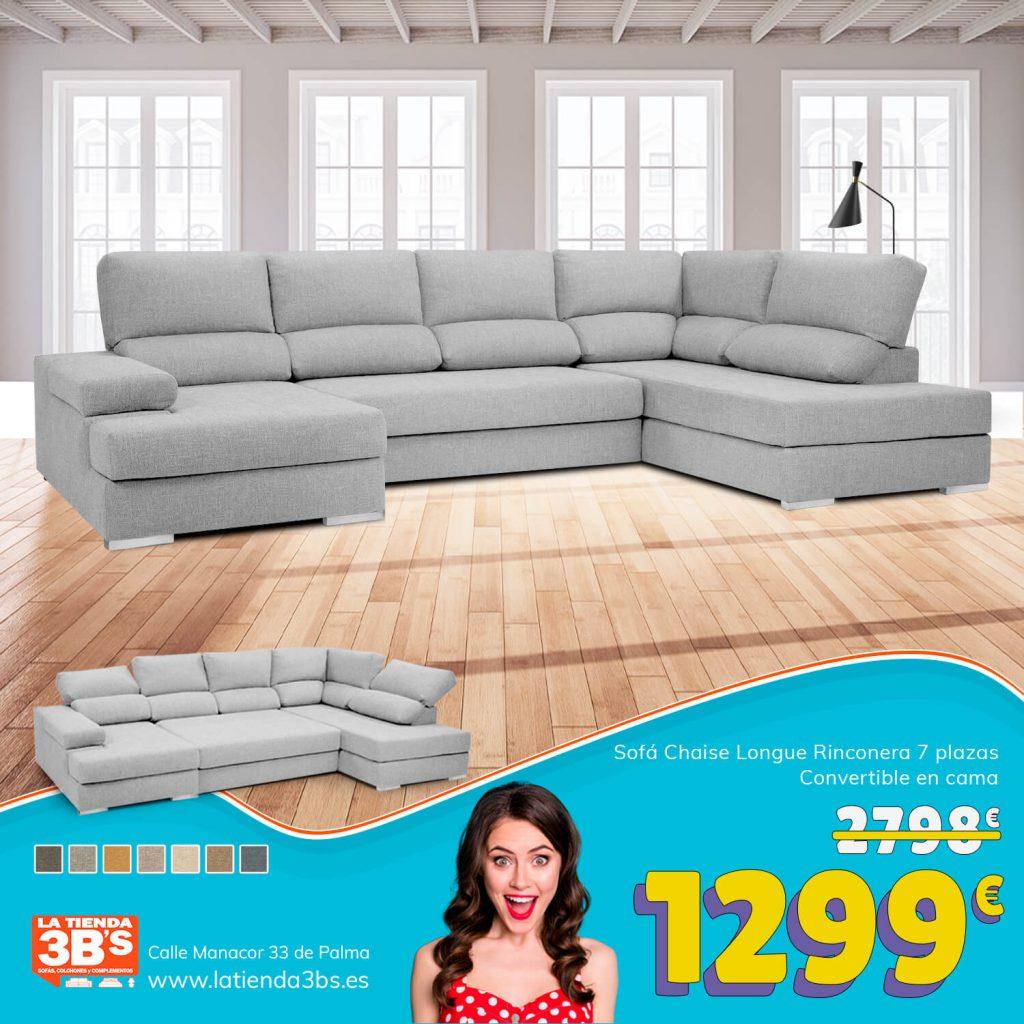 LaTienda3Bs Rebajas Verano Sofa Rinconera Alaro| La Tienda 3Bs