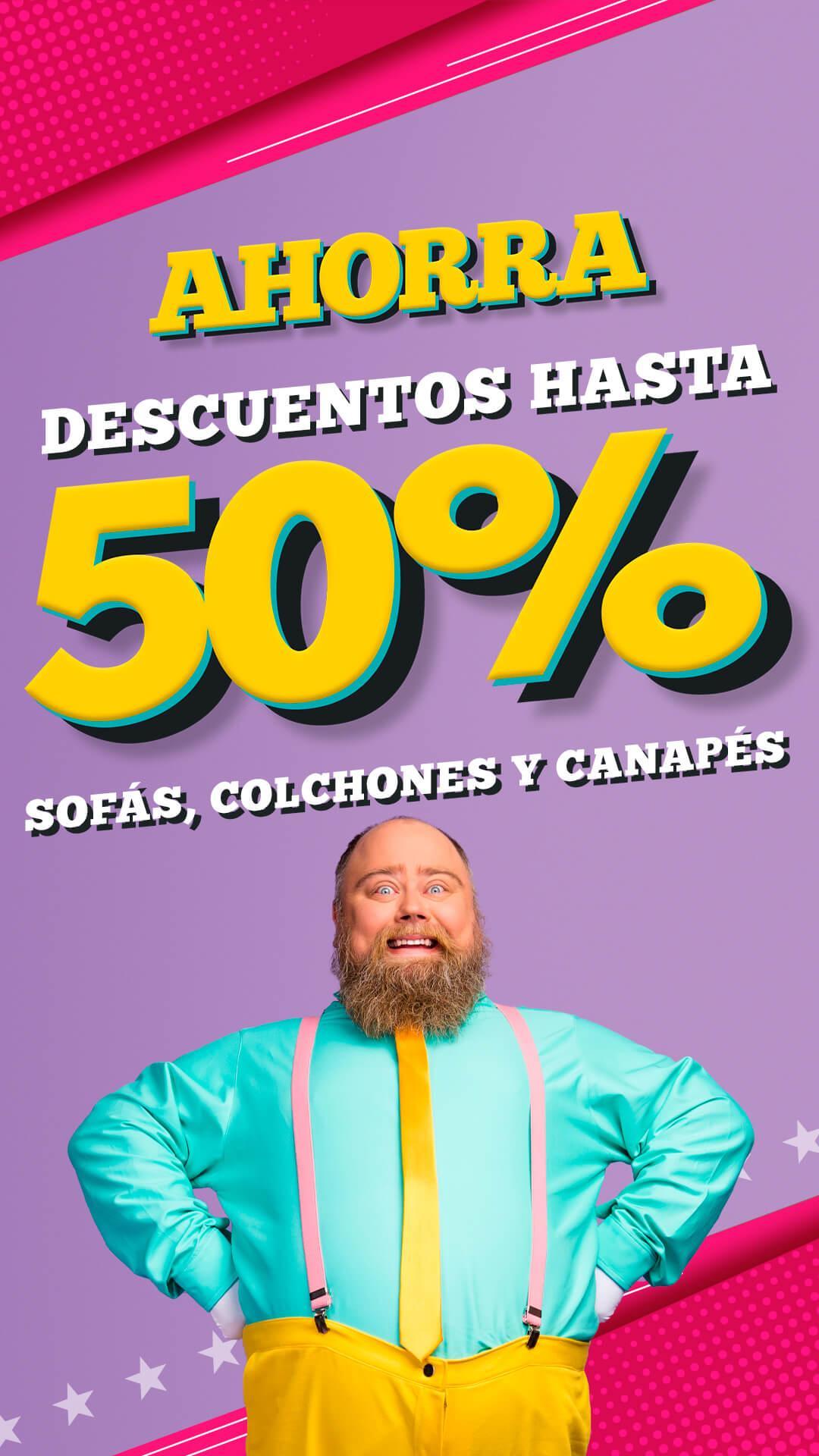 banner promo ahorra o nunca 50 por ciento descuento LaTienda3Bs Vertical