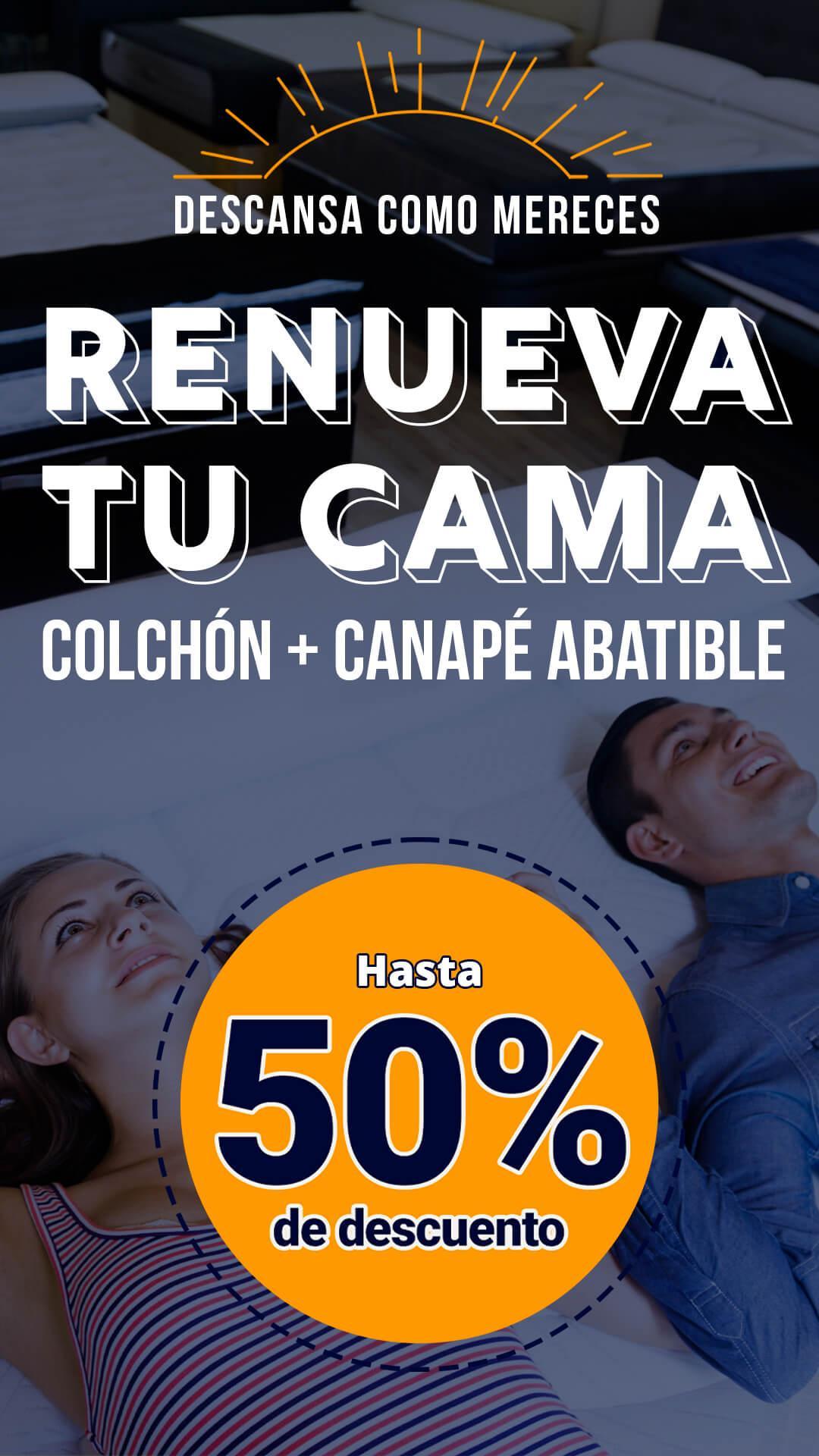 banner promo renueva tu cama LaTienda3Bs Vertical