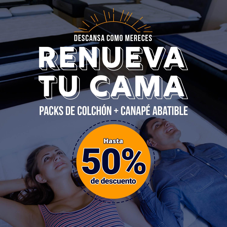 banner promo renueva tu cama LaTienda3Bs| La Tienda 3Bs